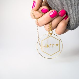 unique lightweight everyday jewellery gold hexagon hoop necklace