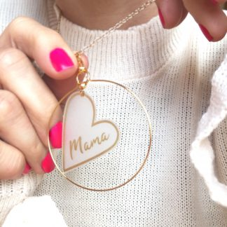 marmalade gold mama heart necklace mum
