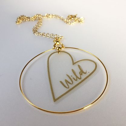 marmalade wild heart necklace
