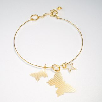 gold butterfly and star charm bracelet