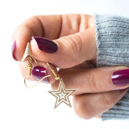 marmalade gold star drop earrings