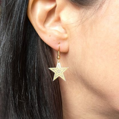 marmalade gold star drop earrings