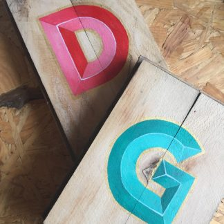 personalised handpainted letter sign