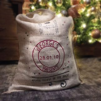 personalised Christmas santa's sack