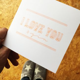 Marmalade Design I love you valentines, wedding, birthday cards