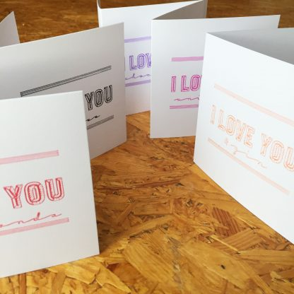 Marmalade Design I love you valentines cards