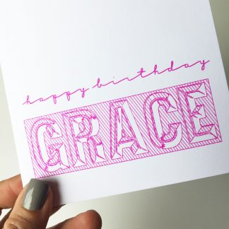 unique cool personalised birthday card