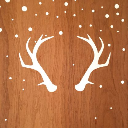 Christmas antler wall decal sticker