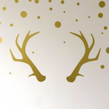 Christmas antler wall decal sticke