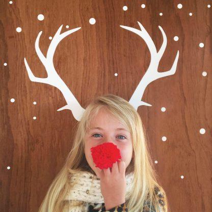 Christmas antler sticker decal
